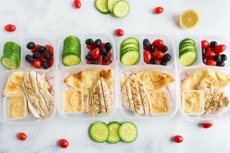 Easy Mediterranean Lunchbox Idea - packed in Easy Lunchboxes