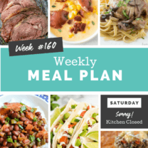 Easy Weekly Meal Plan Week 160