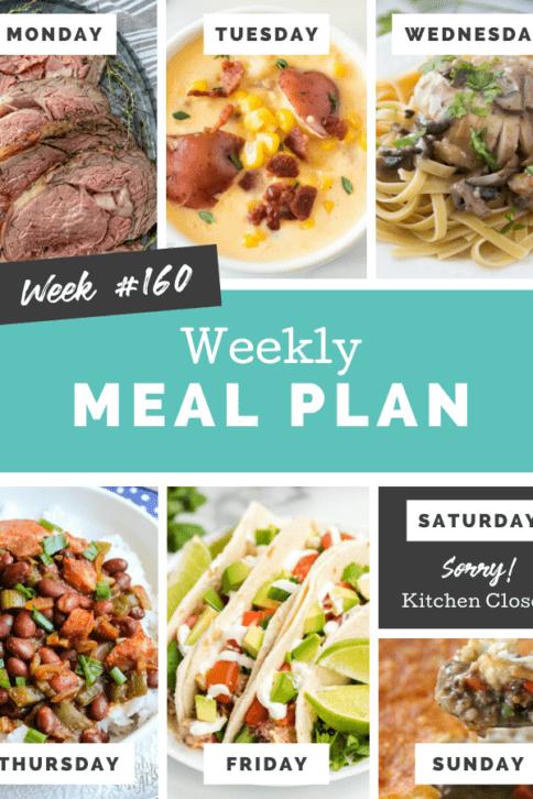 Easy Weekly Meal Plan Week 160 - Family Fresh Meals