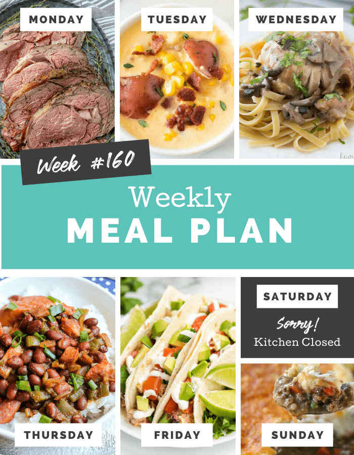 Easy Weekly Meal Plan Week 160 - Family Fresh Meals
