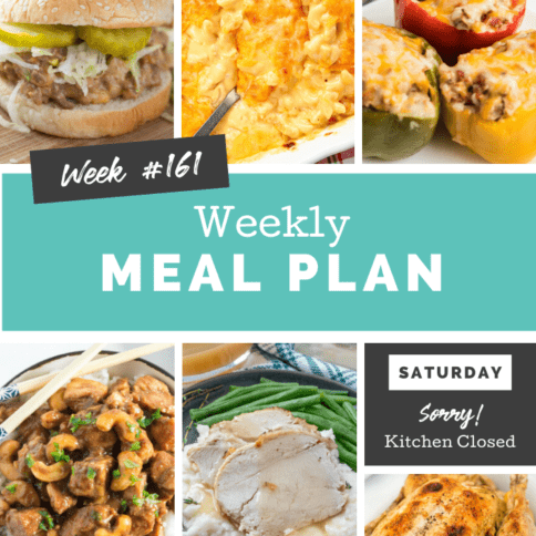 Easy Weekly Meal Plan Week 161 - Family Fresh Meals