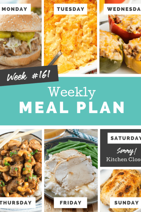 Easy Weekly Meal Plan Week 161 - Family Fresh Meals