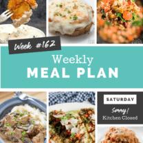 Easy Weekly Meal Plan Week 162