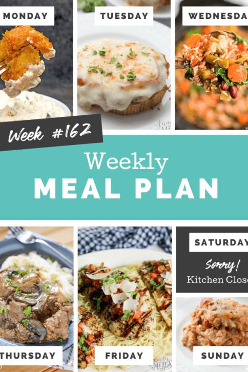 Easy Weekly Meal Plan Week 162 - Family Fresh Meals