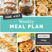 Easy Weekly Meal Plan Week 163