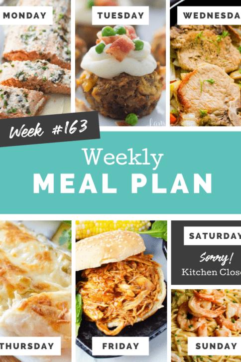 Easy Weekly Meal Plan Week 163 - Family Fresh Meals
