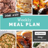Easy Weekly Meal Plan Week 164