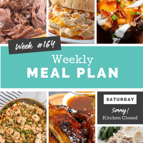 Easy Weekly Meal Plan Week 164 - Family Fresh Meals