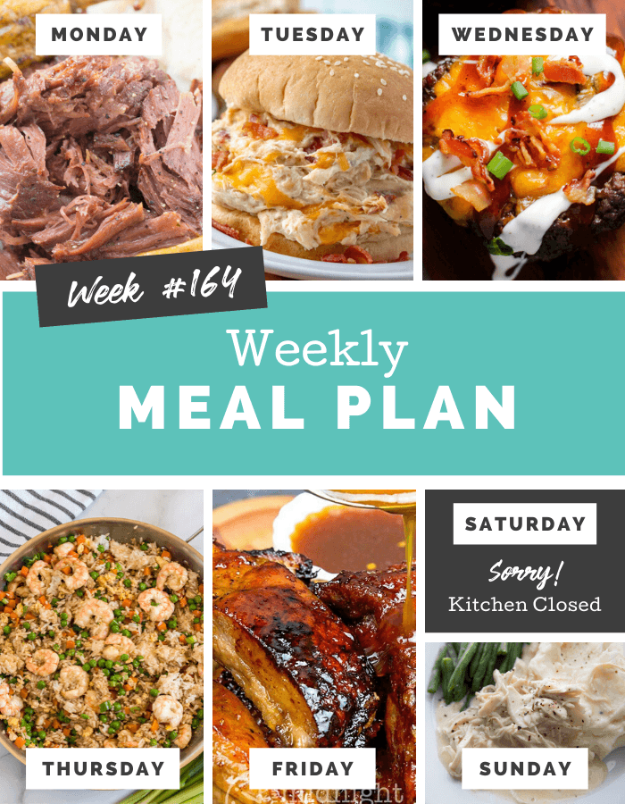 Easy Weekly Meal Plan Week 164 - Family Fresh Meals via @familyfresh