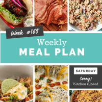 Easy Weekly Meal Plan Week 165