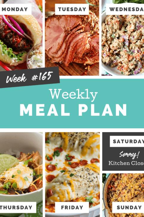 Easy Weekly Meal Plan Week 165 - Family Fresh Meals