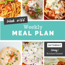 Easy Weekly Meal Plan Week 166