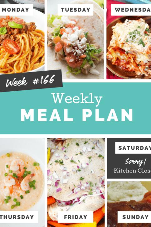 Easy Weekly Meal Plan Week 166 - Family Fresh Meals