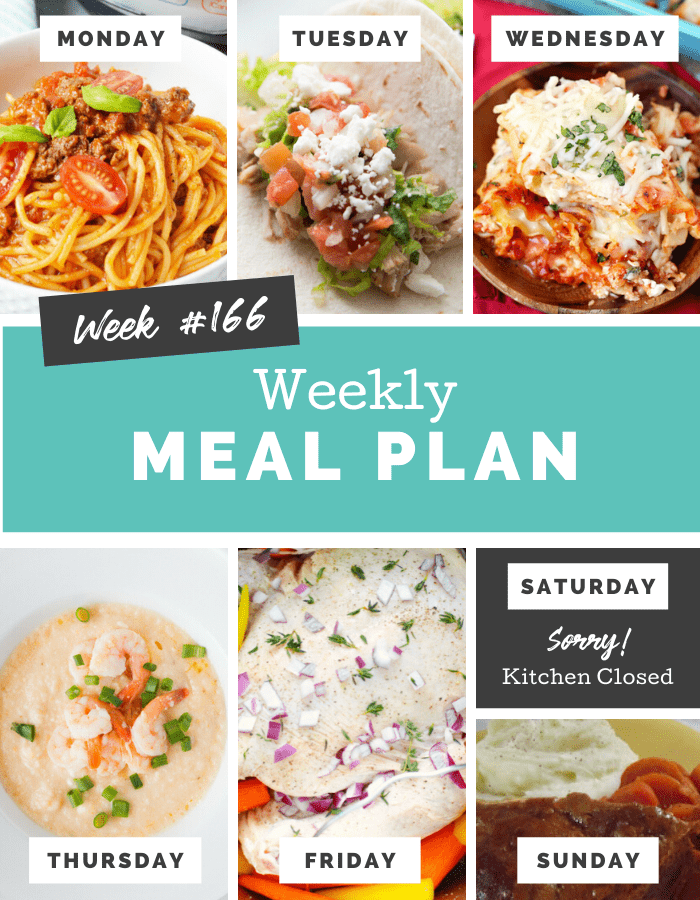 Easy Weekly Meal Plan Week 166 - Family Fresh Meals