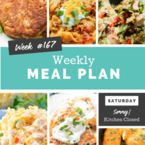Easy Weekly Meal Plan Week 167