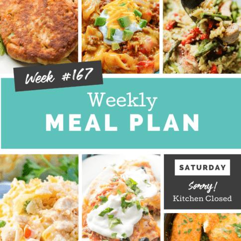 Easy Weekly Meal Plan Week 167 - Family Fresh Meals