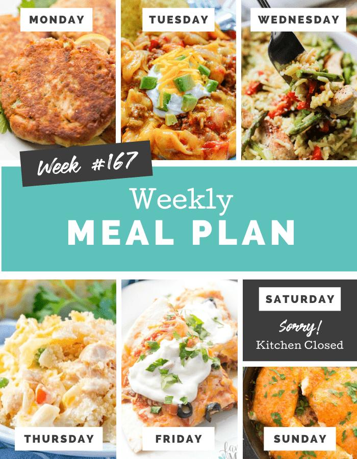 easy weekly meal plan week 167