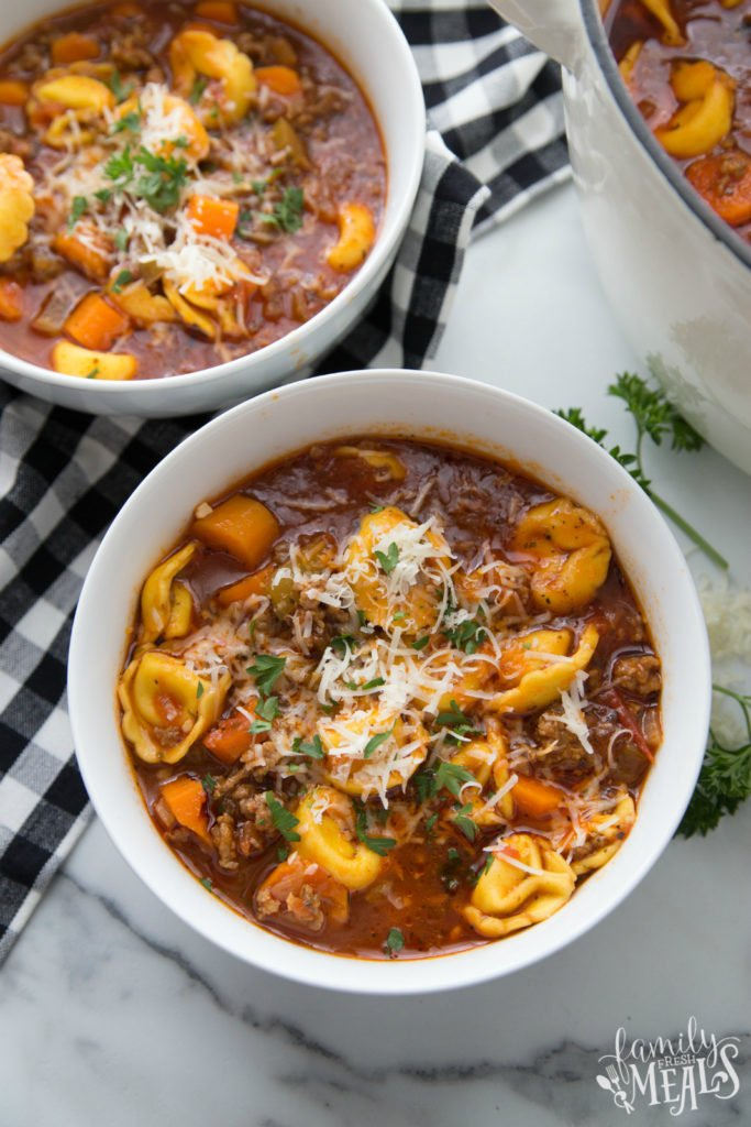 Sausage Tortellini Soup recipe - Family Fresh Meals