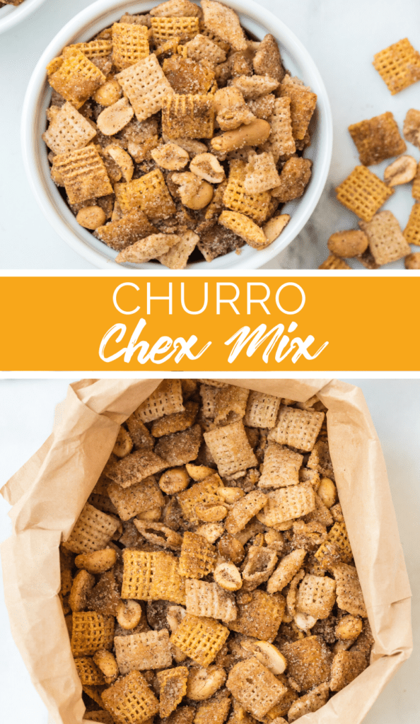 Churro Chex Mix Recipe from Family Fresh Meals - beauty shot of recipe