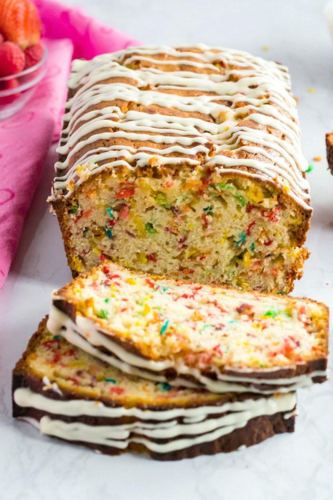 Fruity Pebbles Breakfast Bread Recipe - Family Fresh Meals