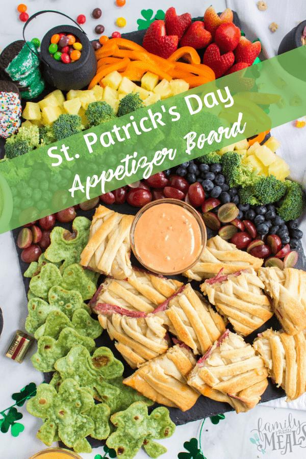 St Patrick's Day Appetizer Board via @familyfresh