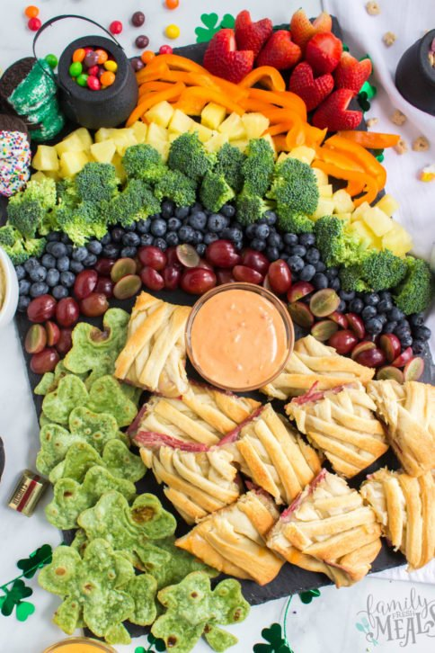 St. Patrick's Day Appetizer board - Family Fresh Meals