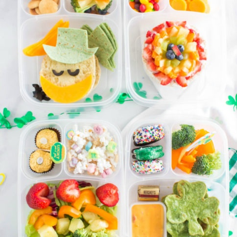 St. Patrick's Day Easy Lunchbox Ideas - fun lunch box idea from family fresh meals