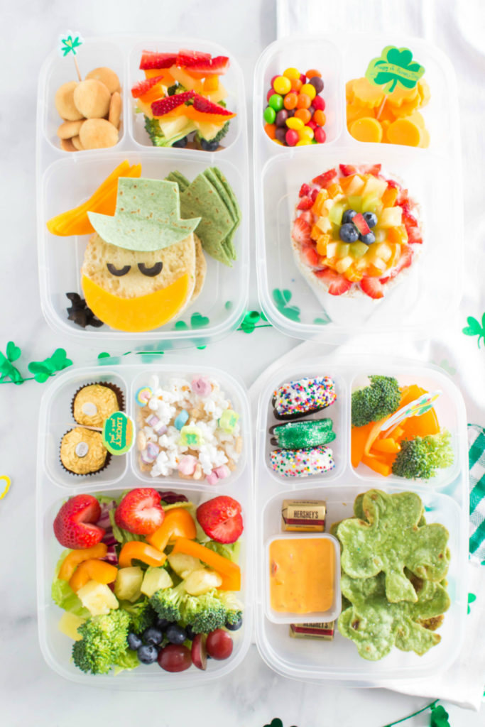 Fun St Patrick's Day Easy Lunchbox Ideas - fun lunch box idea from family fresh meals
