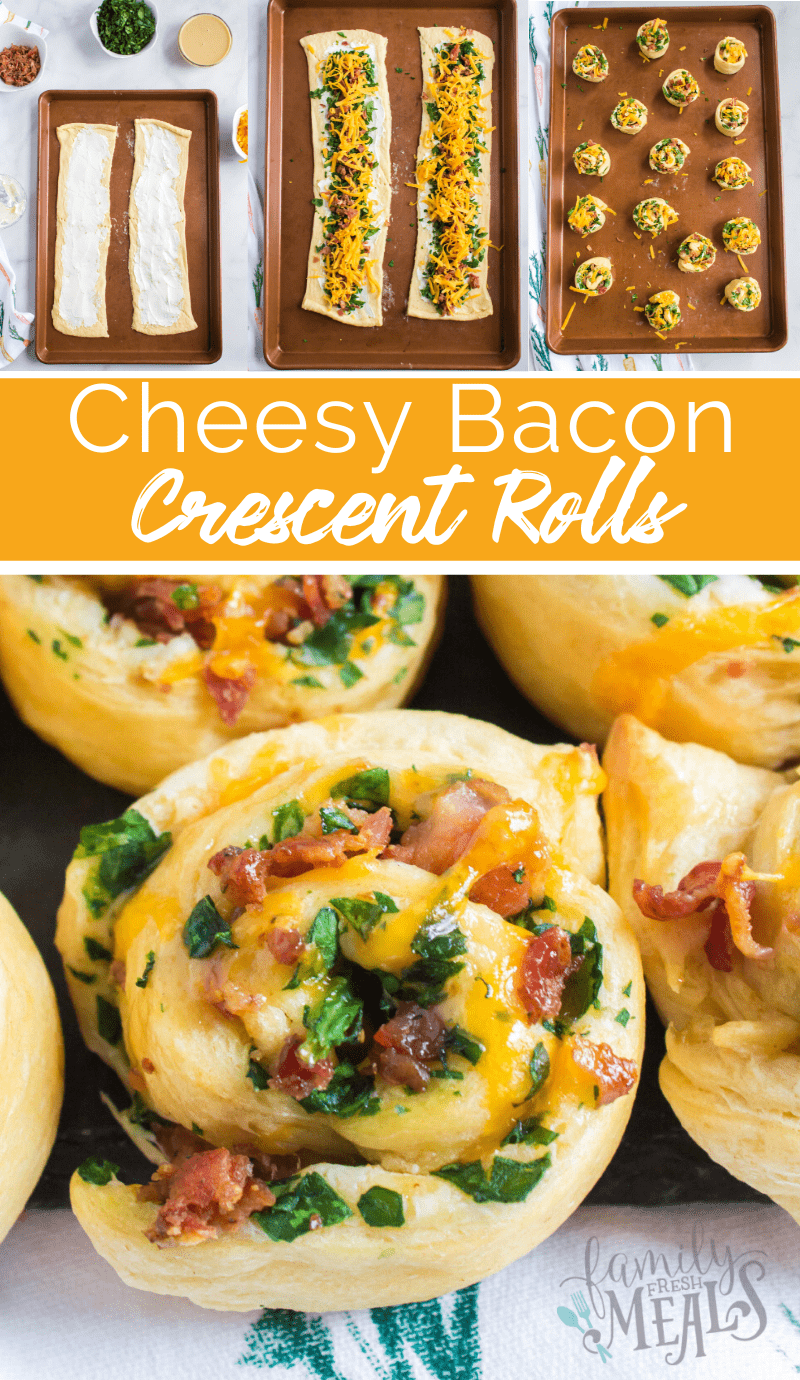 Cheesy Bacon Crescent Rolls Ups recipe from Family Fresh Meals via @familyfresh