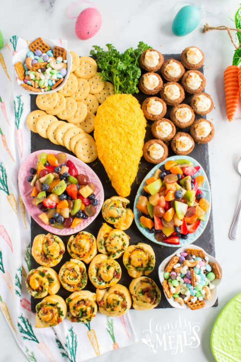 Easter Appetizer Snack Board - Family Fresh Meals