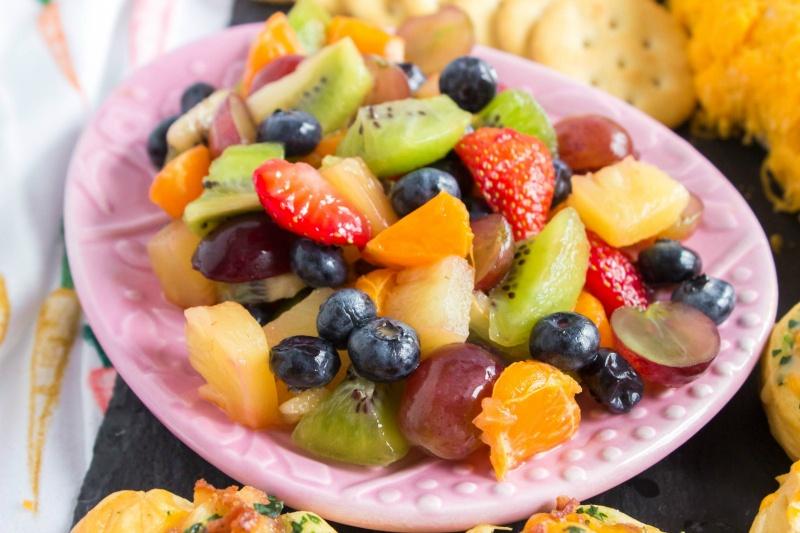 Bowl of glazed fruit