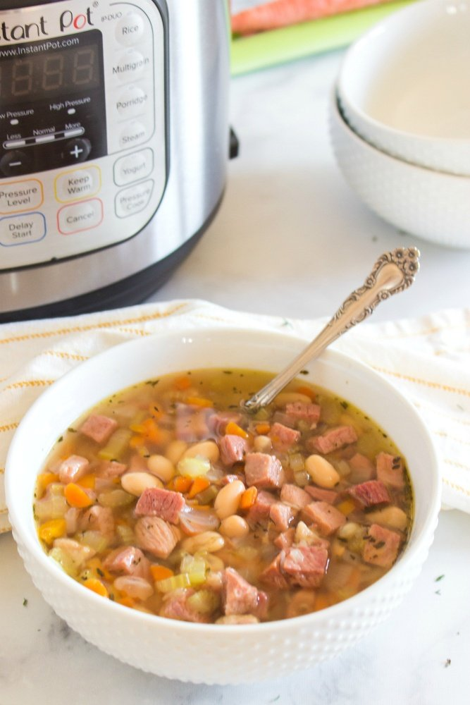 Instant Pot Ham and Bean Soup - Family Fresh Meals