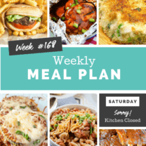Easy Weekly Meal Plan Week 168