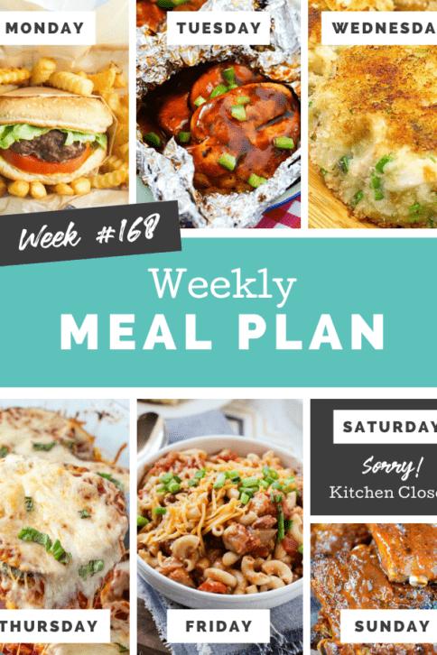 Easy Weekly Meal Plan Week 168 - Family Fresh Meals