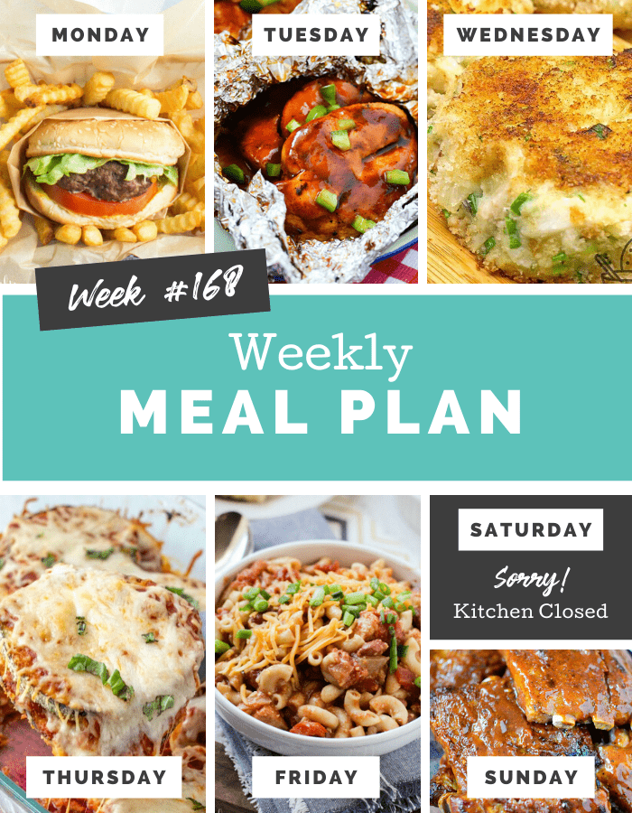 Easy Weekly Meal Plan Week 168 - Family Fresh Meals