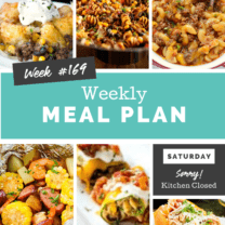 Easy Weekly Meal Plan Week 169