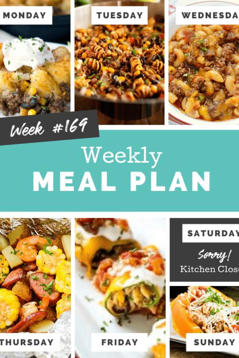 Easy Weekly Meal Plan Week 169 - Family Fresh Meals