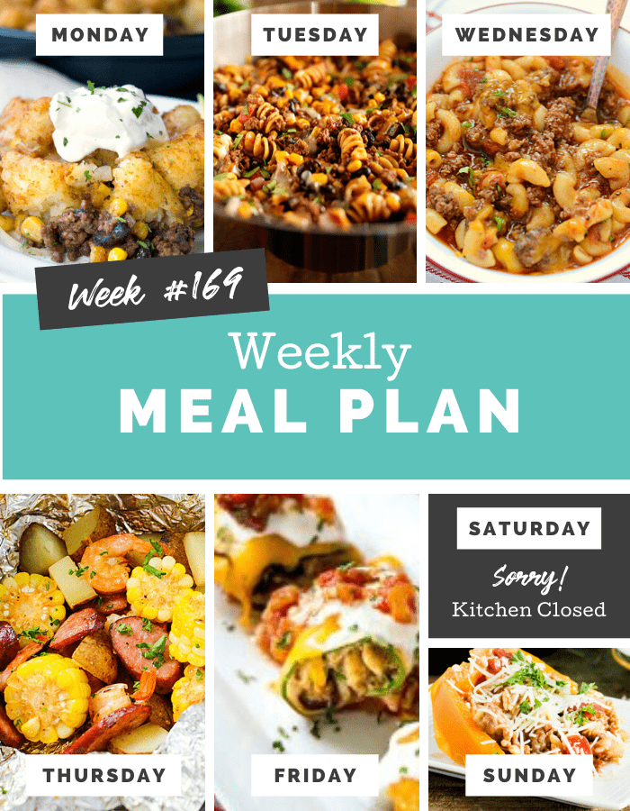 Easy Weekly Meal Plan Week 169 - Family Fresh Meals via @familyfresh
