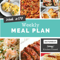 Easy Weekly Meal Plan Week 170