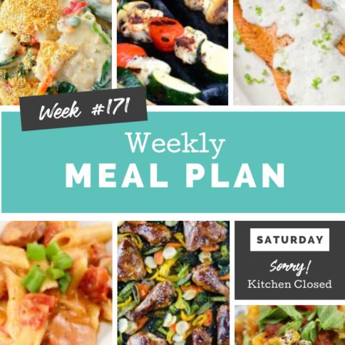 Easy Weekly Meal Plan Week 171 - Family Fresh Meals