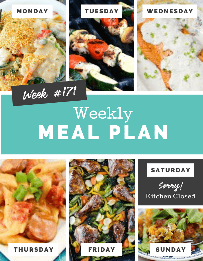 Easy Weekly Meal Plan Week 171 - Family Fresh Meals