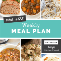 Easy Weekly Meal Plan Week 172
