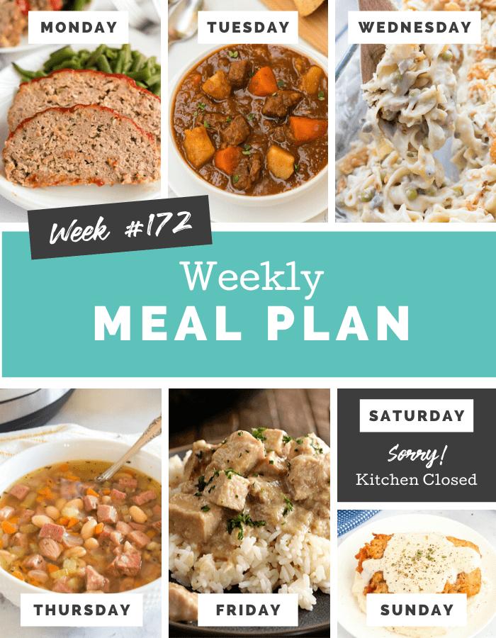 Easy Weekly Meal Plan Week 172 Cover Photo