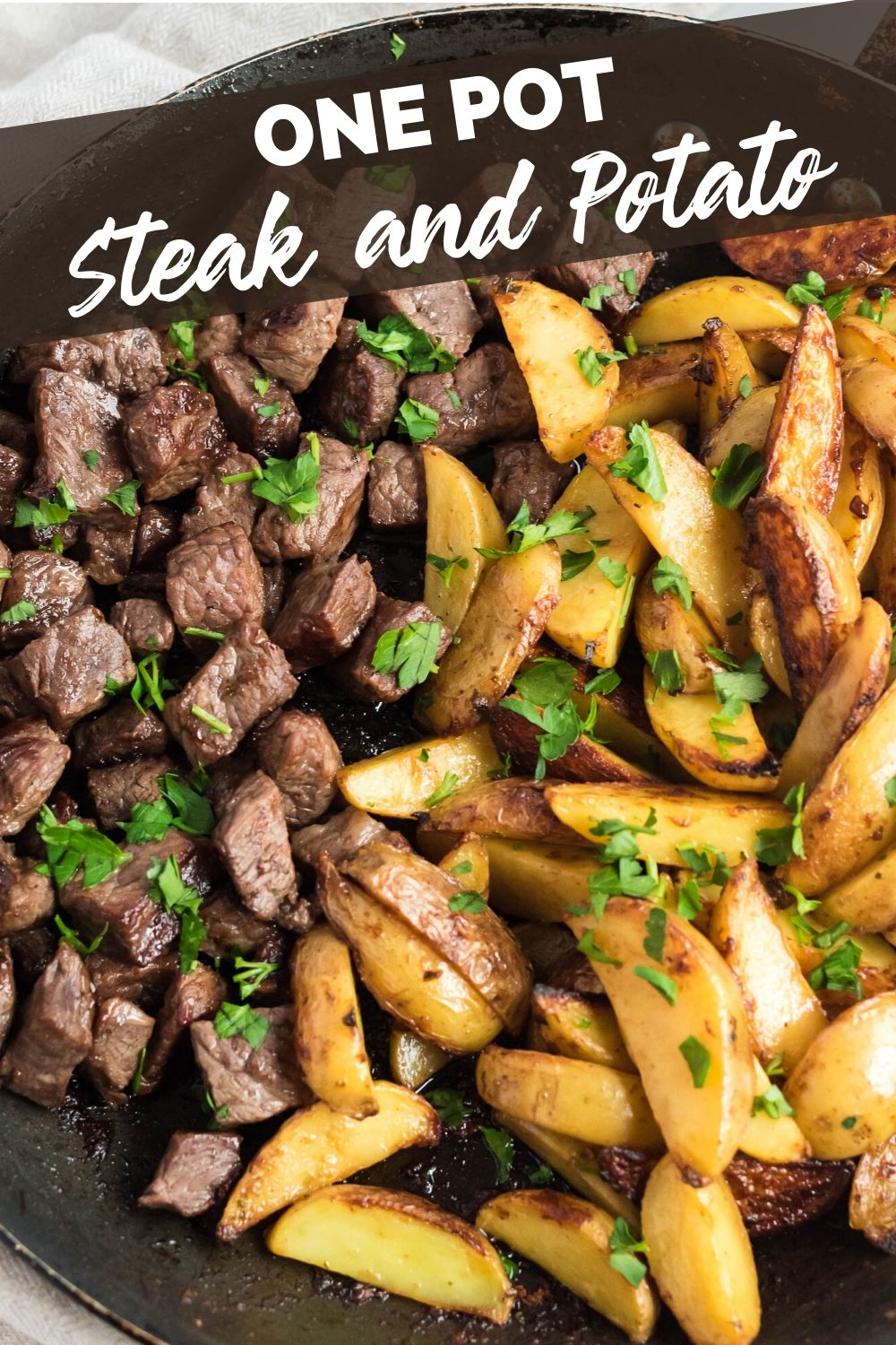 One Pot Steak and Potatoes recipe from Family Fresh Meals via @familyfresh