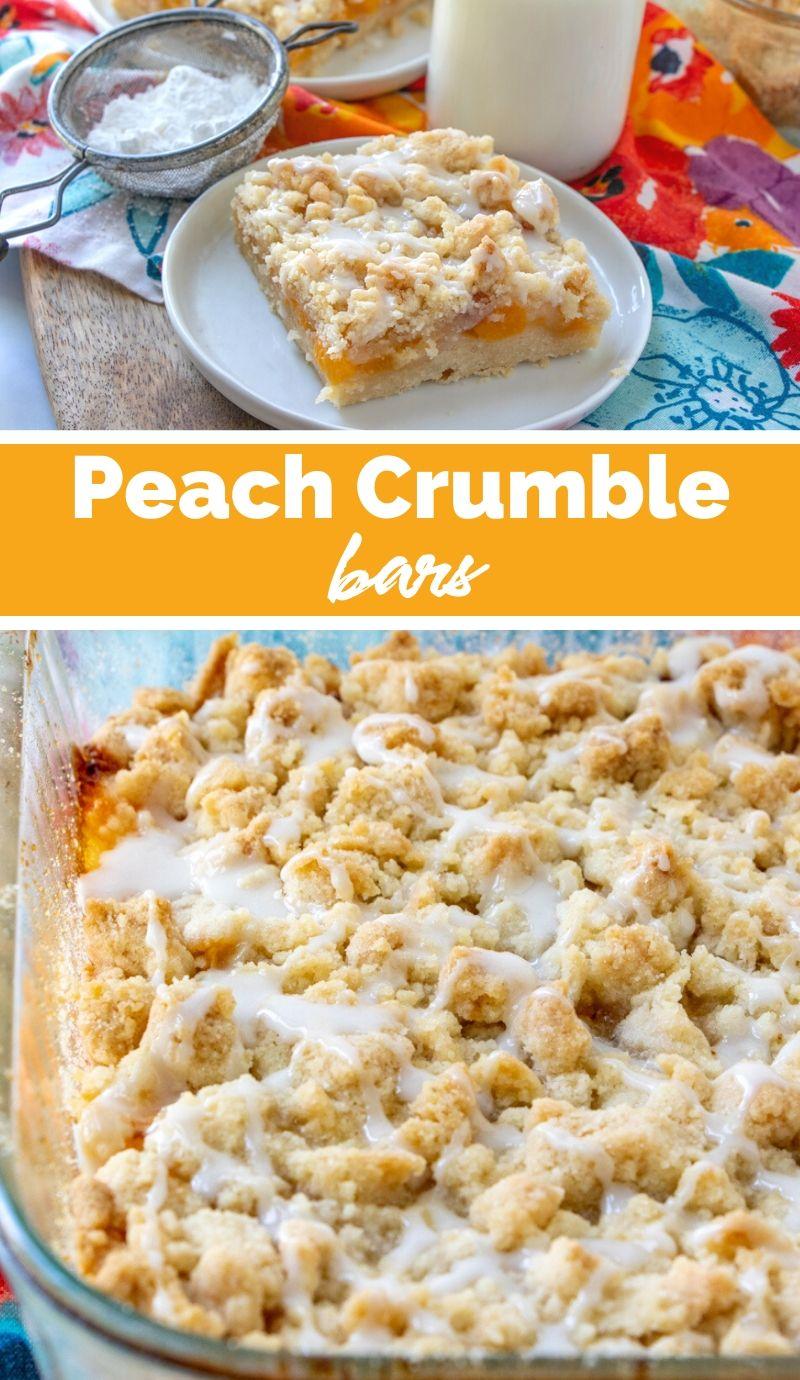 Peach Crumble Bars - Easy Summer Dessert via @familyfresh
