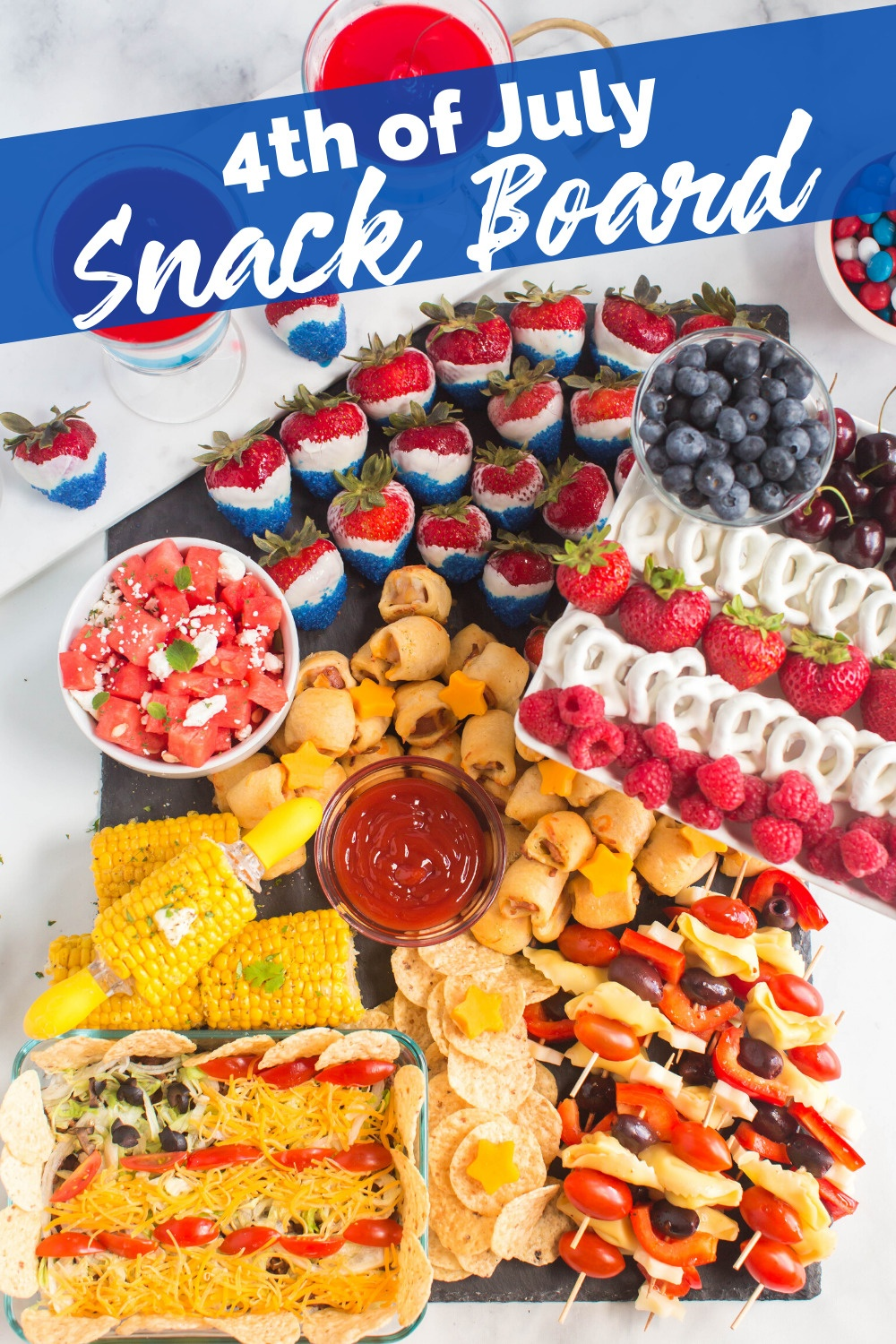 4th of July Snack board appetizer via @familyfresh