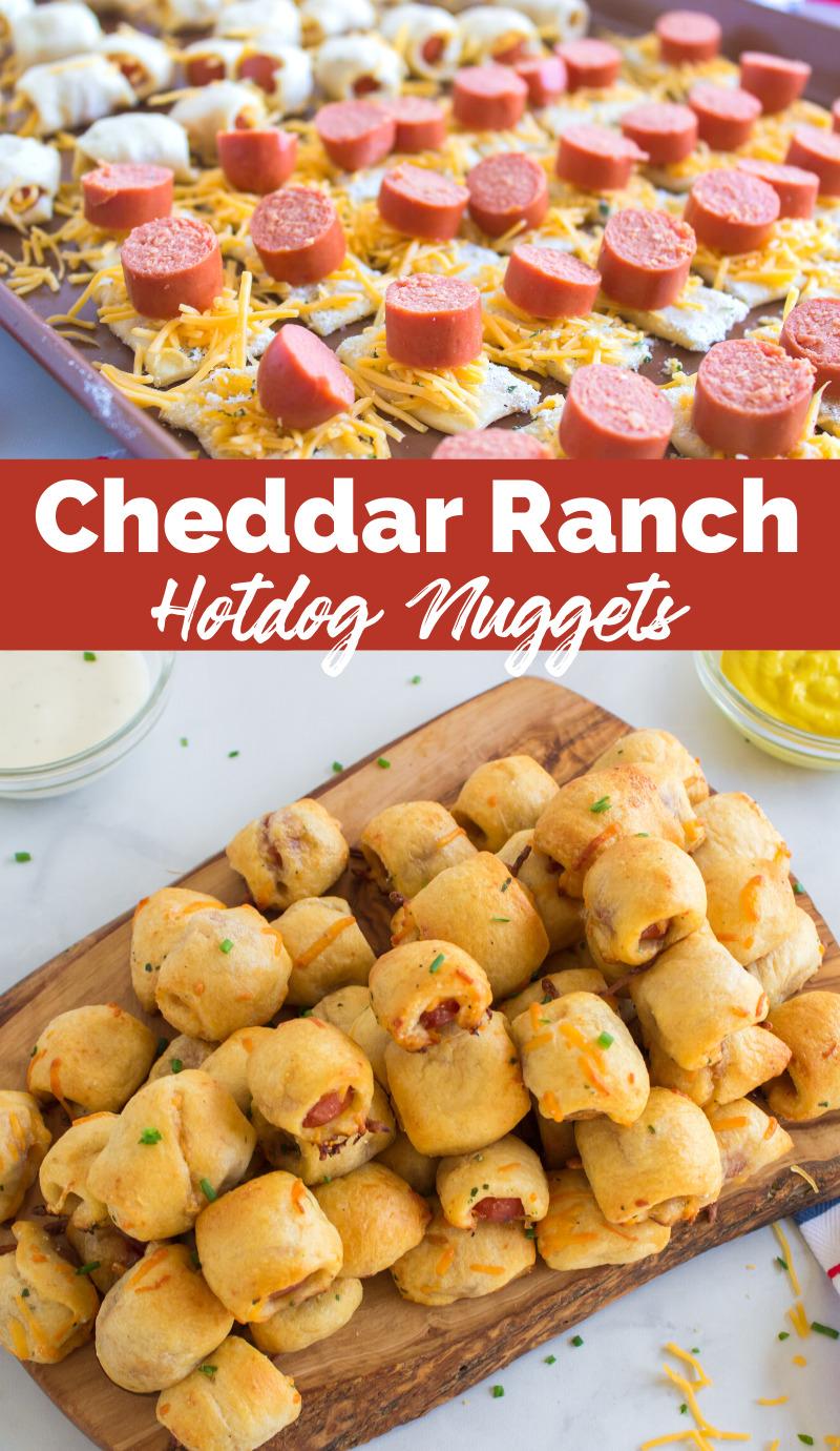 Cheddar Ranch Hotdog Nuggets via @familyfresh
