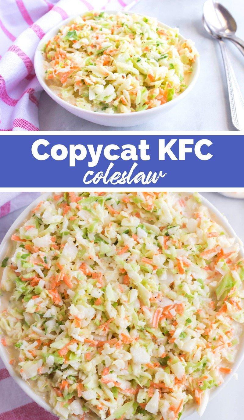Copycat KFC Coleslaw via @familyfresh