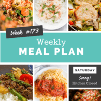 Easy Weekly Meal Plan Week 173