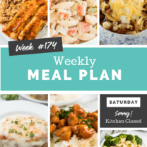 Easy Weekly Meal Plan Week 174
